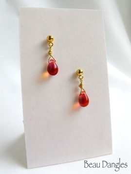 Amber Drops - Earrings