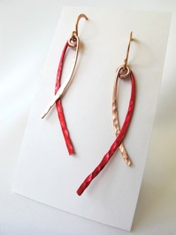 Red & Copper Dangles