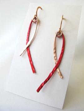 Red & Copper Dangles