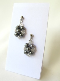 Light Grey Beaded Pearls