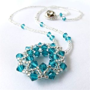 Made of Swarovski crystals and Japanese seed beads